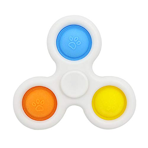 CaLeqi, giocattolo sensoriale semplice a rotazione con fossetta in silicone, giocattolo per lo...