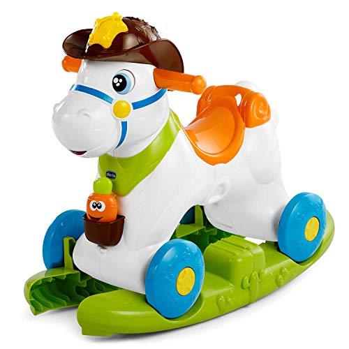 Chicco Cavallo a Dondolo per Bambini Baby Rodeo, Gioco Educativo e Interattivo, Cavallo Cavalcabile...