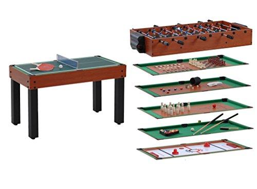 Garlando Games Tavolo Multi 12 Giochi in Uno ciliegio