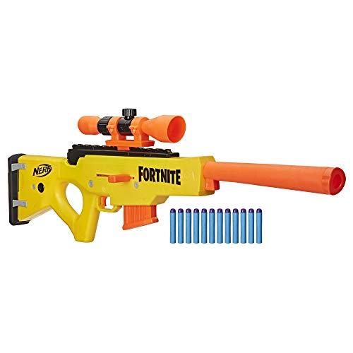 Hasbro Nerf Fortnite-BASR-L Bolt Action (Blaster con caricatore a clip, include cannocchiale...