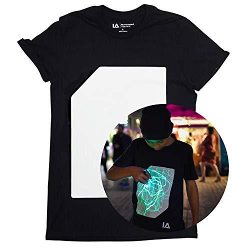 Illuminated Apparel T-Shirt Fluorescente Interattiva (Nero/Verde, XL)