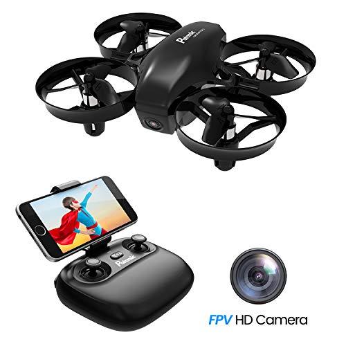Potensic Mini Drone con Telecamera Telecomando Quadricottero WiFi Batteria Rimovibile con Funzione...