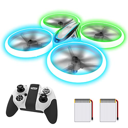 AVIALOGIC Q9s Drone per Bambini,Elicottero Telecomandato con Luci Blu & Verdi e Rotazione a 360°,RC...