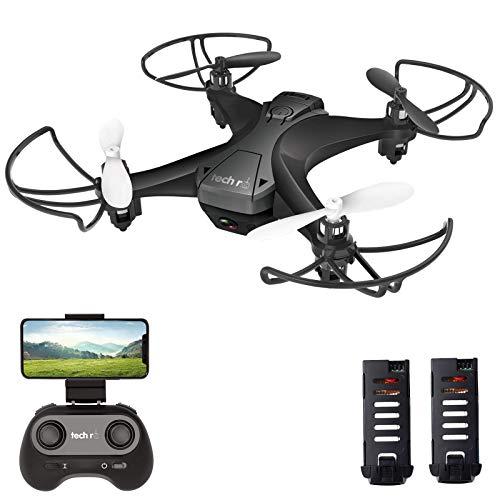 tech rc Mini Drone con Telecamera HD con Due Batterie Funzione di Sospensione Altitudine Un Pulsante...
