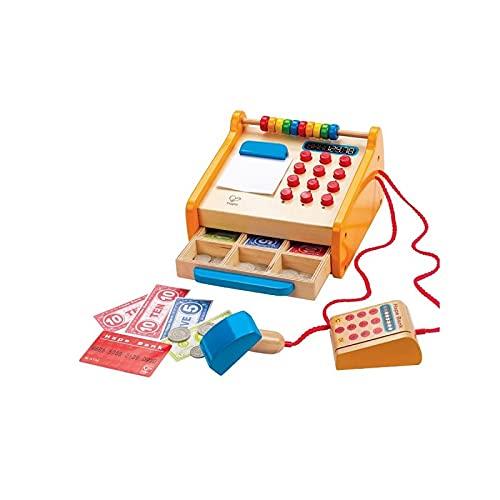Hape Cassa Hape, Cassa in Legno da 37 Pezzi per Bambini, con Calcolatrice