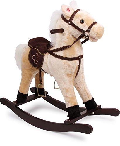 4101 Cavallo a dondolo 'Zottel' small foot, in legno e tessuto, con effetti sonori (suono di zoccoli...