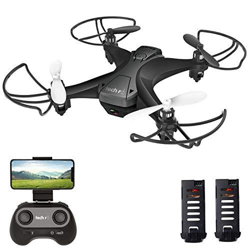 tech rc Mini Drone con HD Telecamera con Due Batterie Funzione di Sospensione Altitudine Un Pulsante...
