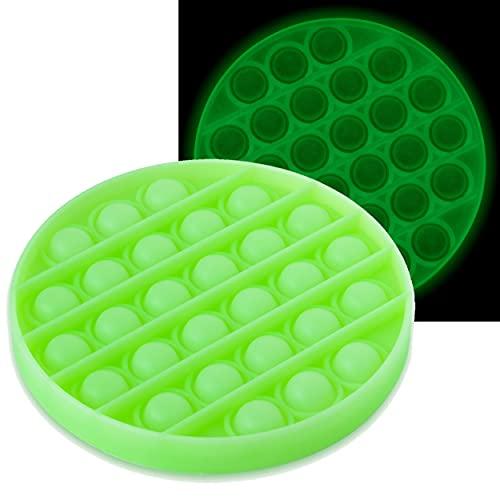 MIPEU Push And Pop it Bubble Sensory Fidget Toy, Giocattolo a Bolle di Estrusione Fosforescente per...