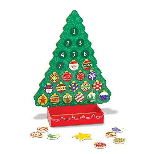 Melissa & Doug-In Attesa del Natale Calendario dell'Avvento di Legno, Multicolore, 13571