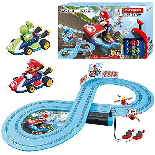 Carrera Toys Mario & Yoshi Carrera FIRST Nintendo Kart – Set pista da corsa a batteria e due...