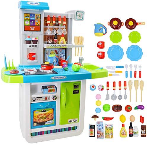 deAO My Little Chef Cucina Playset con Suoni, Pannello Touchscreen e Caratteristiche d'Acqua - Più...