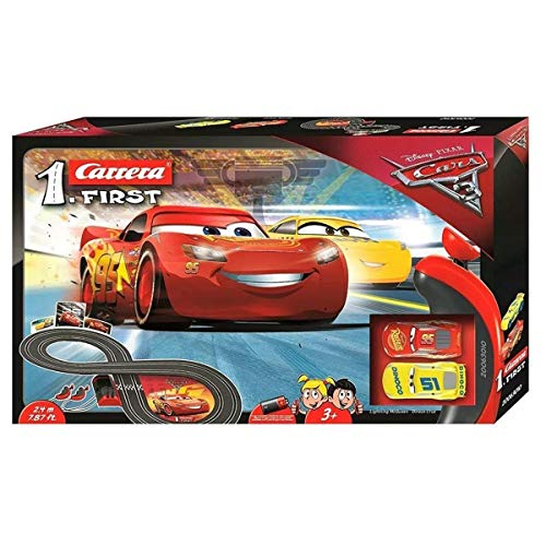 Carrera Toys Carrera FIRST Disney Pixar Cars 3 – Set pista da corsa a batteria e due macchinine...