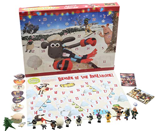 SHAUN THE SHEEP Calendario Avvento per Bambini Wallace e Gromit Cartoni Animati Include Puzzle Gioco...