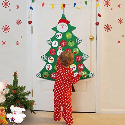 OurWarm feltro albero di Natale calendario dell' avvento conto alla rovescia per Natale calendario...