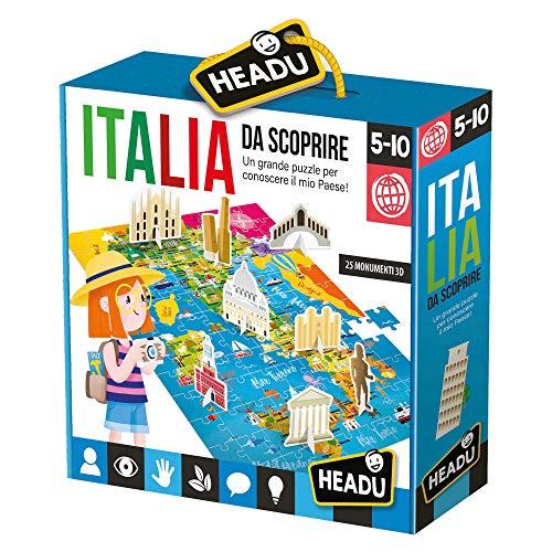 Headu- Italia da Scoprire Puzzle, Multicolore, IT23110