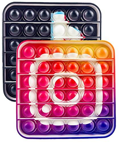Push Pop Bubble Sensory Fidget Toy Agitarsi Giocattolo Tik Tok Scudo di Capitan Giochi Sensoriali...