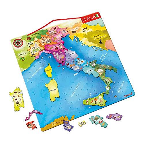 Janod- Puzzle Magnetico Italia, J05488