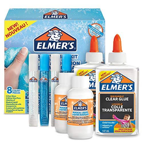 ELMER'S Kit per Slime Frosty, Colla Vinilica Trasparente, Penne con Colla Glitterata e Liquido...