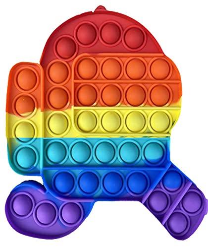 iCOOLIO Pop it Fidget Toy Set, popit Among us, poppit Antistress, Fidget Toys Set Multicolor, Push...