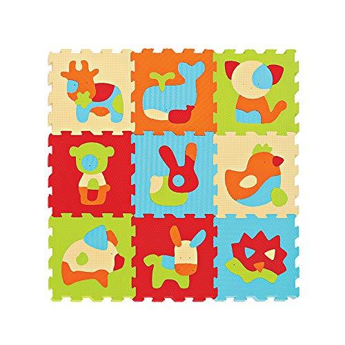 LUDI 10005 – Piastrelle In Schiuma Touch, Motivo: Animali, Multicolore