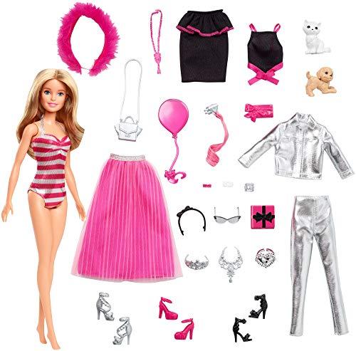 Barbie - Calendario dell'Avvento, 24 Sorprese da Scoprire, Bambola Inclusa, Giocattolo per Bambini...