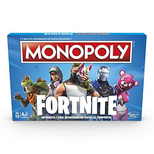 Hasbro E6603103 Monopoly Fortnite Gioco da Tavolo, 13 anni+, Per 2-7 Giocatori- Versione in Lingua...