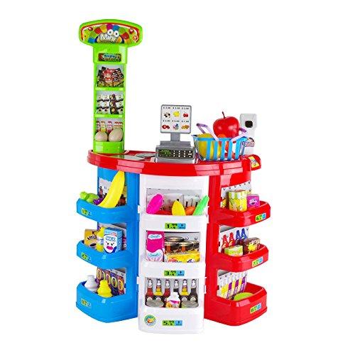 Supermercato Playset Per Bambini Negozio Alimentari Mini Market Gioco D'Imitazione Con 38 Pezzi...