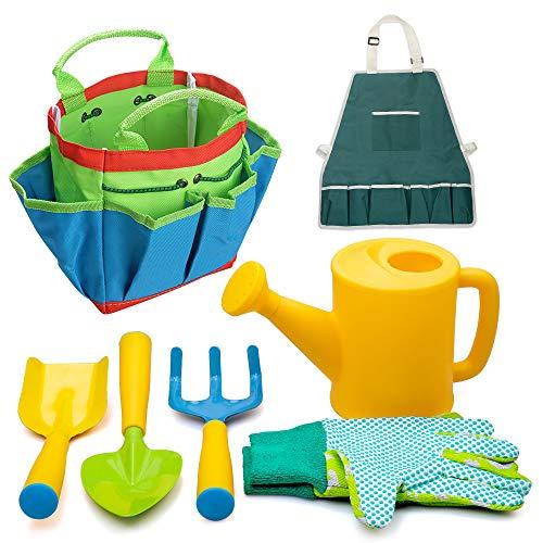 Set di attrezzi da giardinaggio bambini Giocattoli bambina, kit da esterno Regali 3-9 anni Ragazzi...