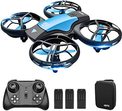 4DRC V8 Mini Drone per Bambini, Quadricottero RC con Telecomando, Funzione Hovering, modalità Senza...