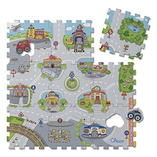 Chicco- Città Tappeto Puzzle, Multicolore