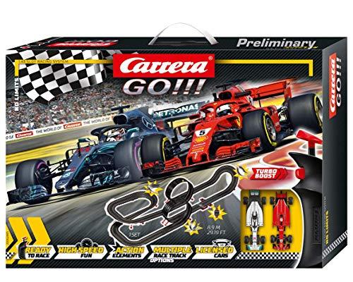 Carrera Toys GO!!! No Limits Set Pista da Corsa e Due Macchinine, Una Ferrari e Una Mercedes, Gioco...