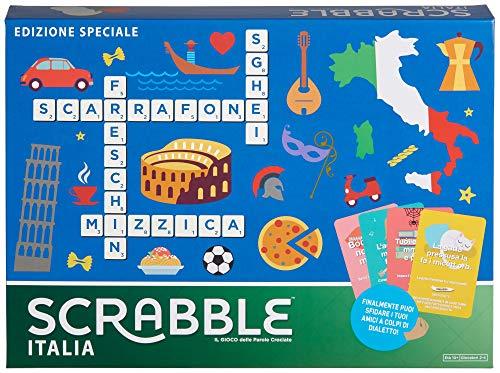 Mattel Games - Scrabble Italia - Edizione Speciale Gioco di Parole Crociate, anche in Dialetto, per...