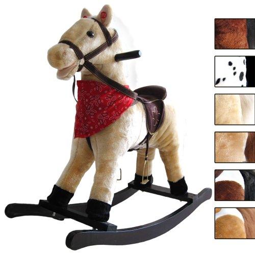 Cavallo a dondolo, animale a dondolo, giocattolo a dondolo morbido e confortevole, con effetti...