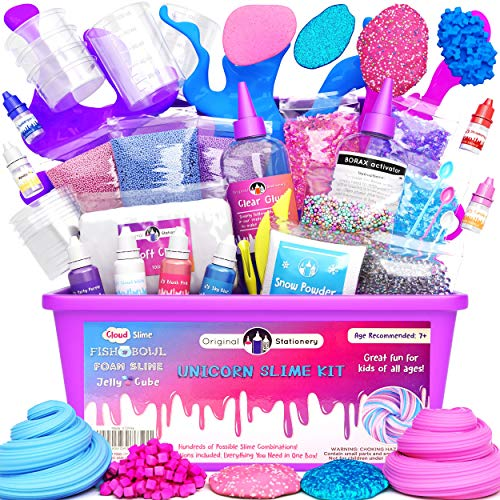 Original Stationery Kit Completo per Slime Unicorno – Laboratorio Slime per Bambine (Tutto...