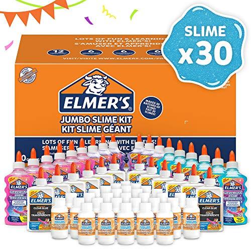 ELMER'S Kit per la Festa per Slime, 18 Flaconi di Colla Glitterata, 12 Flaconi di Colla...