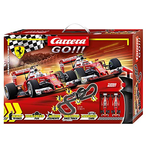 Carrera Toys GO!!! Ferrari Race Spirit Set Pista da Corsa e Due Macchinine della Ferrari, Gioco...