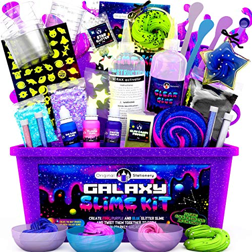 Original Stationery Kit Galaxy Slime per Bambini Galaxy Slime Kit Stelle e Polvere de Slime per...