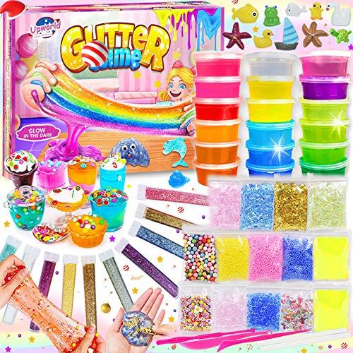 DIY Slime Kit Set, Kit Fluffly Slime per Fai da Te Creativo Ragazze Ragazzi Giocattoli con 18 colori...