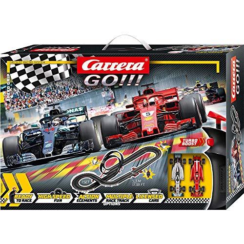 Carrera Toys GO!!! Speed Grip Set Pista da Corsa e Due Macchinine, Una Ferrari e Una Mercedes, Gioco...