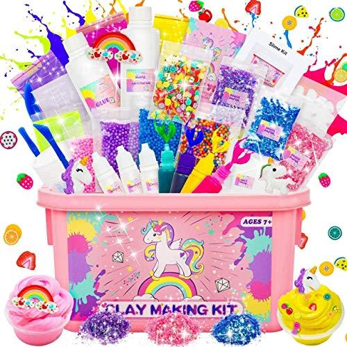 Dookey Slime Kit, Laboratorio Slime per Bambine Slime Forniture Include Argilla, Glitter, Fette di...
