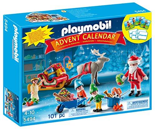 Playmobil 5494 - Calendario dell'Avvento, Atelier di Babbo Natale con Gli Elfi, Multicolore