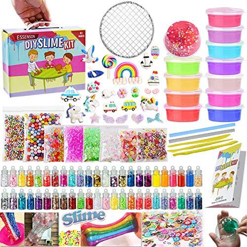 Slime Kit - Fai da Te Slime Making Kit per bambini Art Craft, con 48 Glitter Powder, 12 colori...