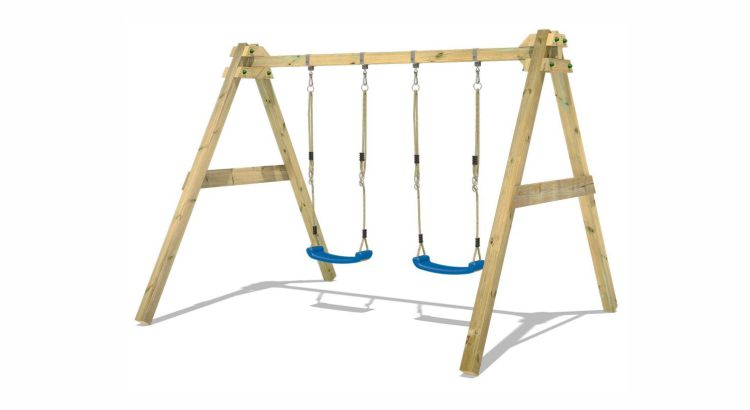 Migliori altalene in legno:Doppia altalena SkyBob 240 di Wickey