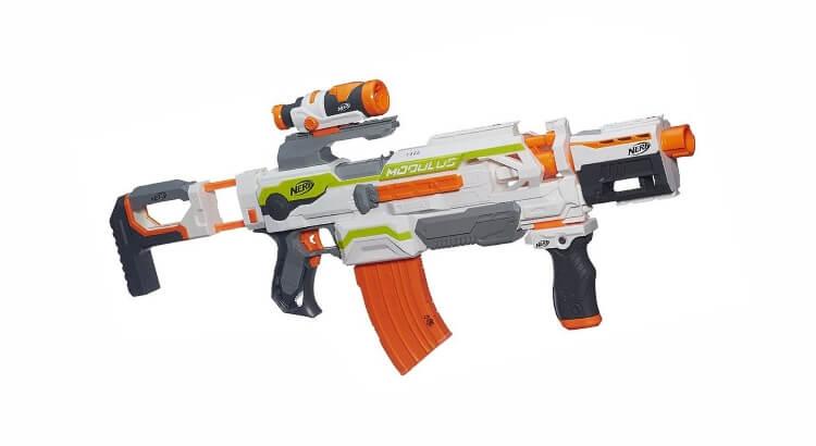 Migliori fucili giocattolo: Nerf Modulus ECS-10 Blaster di Hasbro
