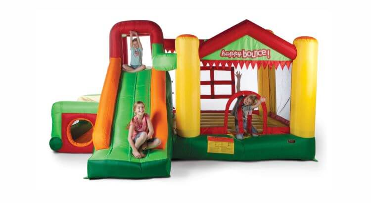 Migliori grandi gonfiabili con scivolo: Bouncy Fun Palace 9-in-1 di Avyna