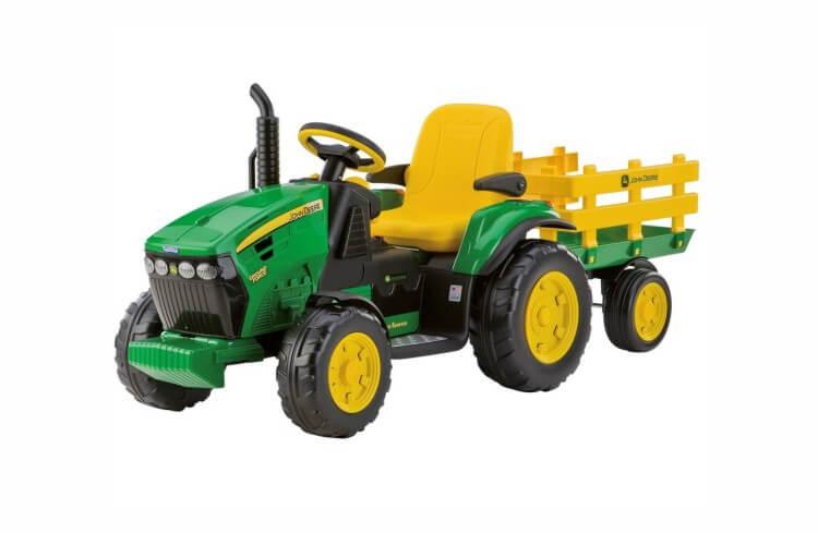 Migliori trattori elettrici per bambini:Trattore elettrico John Deere Ground Force di Peg Perego