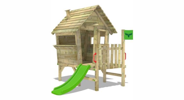 Migliori casette in legno con scivolo: VanillaVilla Joy XXL di Fatmoose