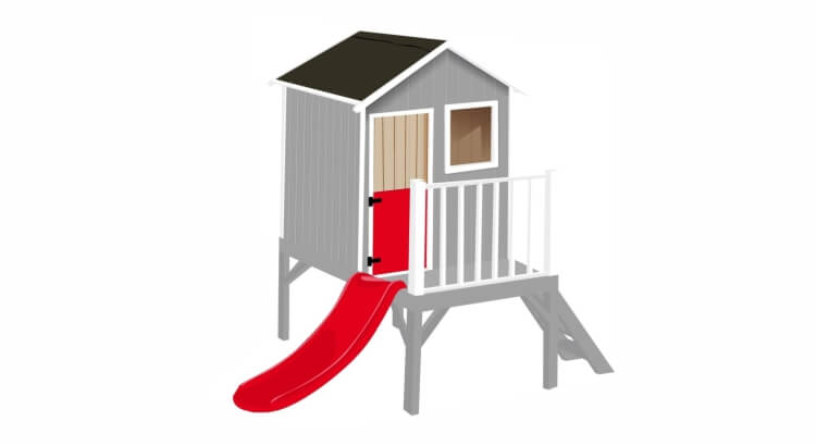 Migliori casette in legno con scivolo: Casetta da giardino Mirtillo di New Plast