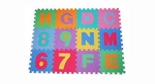 Migliori tappeti puzzle atossici:Tappeto puzzle di lettere e numeri di Outsunny