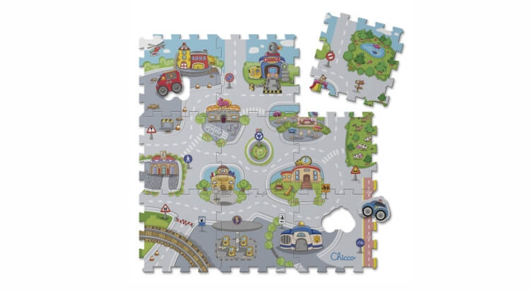 Migliori tappeti puzzle atossici:Tappeto puzzle Città di Chicco